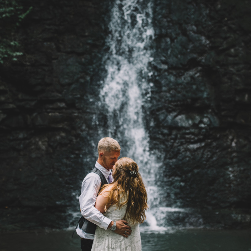 Hayden Run Falls Wedding Elopement photography
