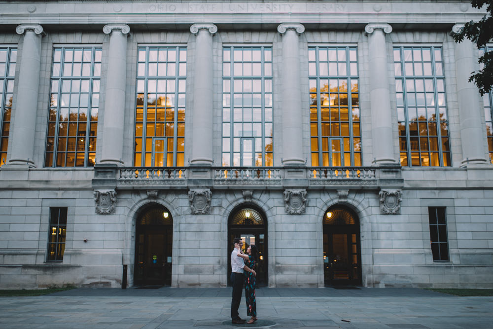 Columbus engagement photography at Ohio State
