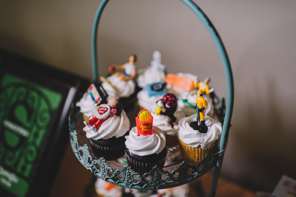 cupcakes at station 67 wedding photography in columbus ohio
