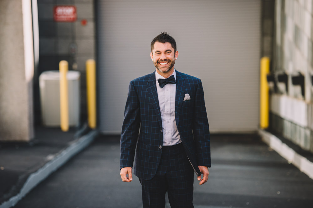 groom laughing in columbus ohio