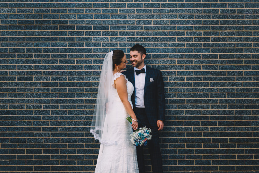 ohio wedding portraits in downtown columbus