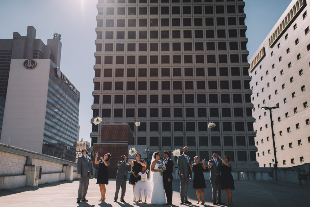 wedding party portraits in columbus ohio