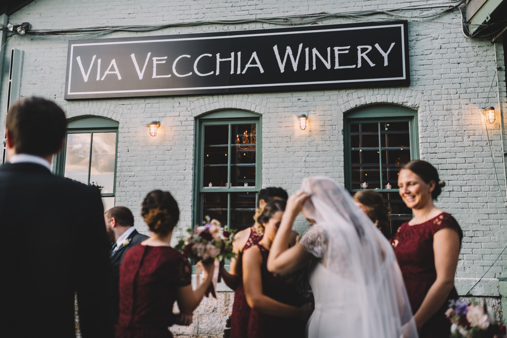 via vecchia winery jewish wedding photography
