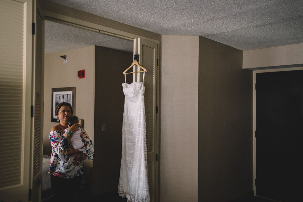 ohio bride's wedding dress