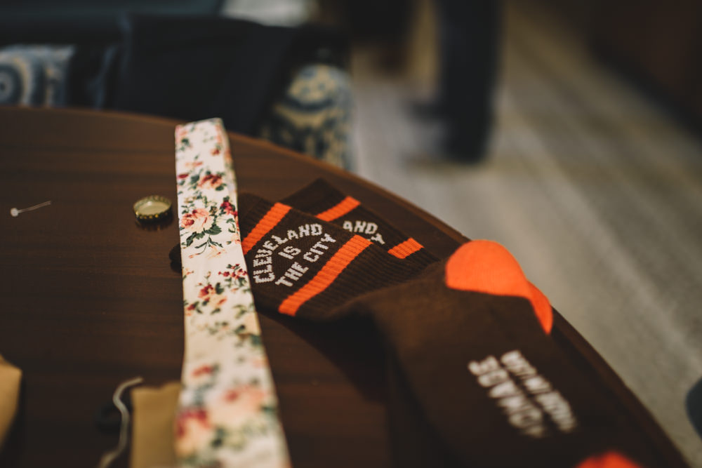 cleveland browns wedding socks