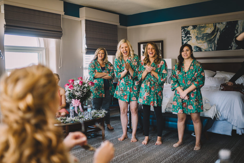 bridesmaids reaction to the grooms gift