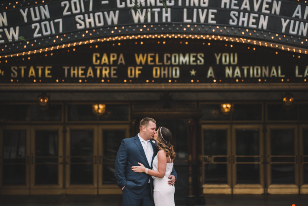 Ohio Theater Wedding Photography in Columbus Ohio