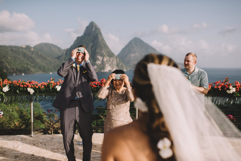 Jade Mountain St Lucia wedding photography