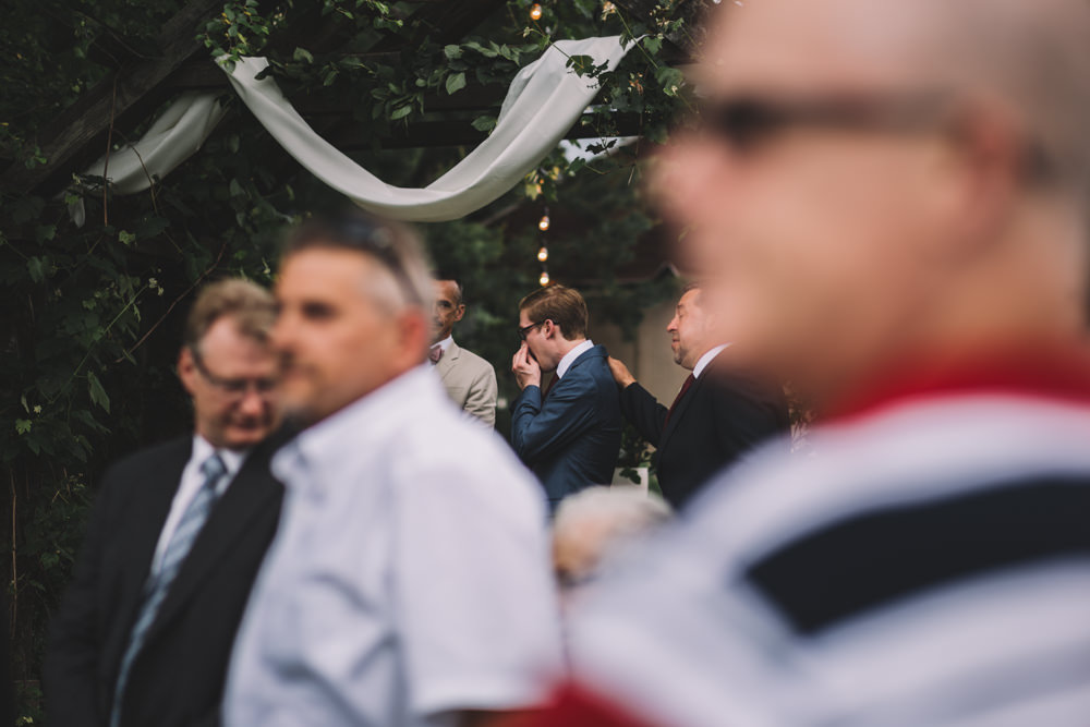 Intimate Wedding photography at Thorncreek Winery